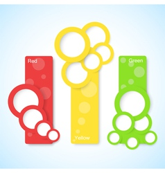 banners with circles vector image