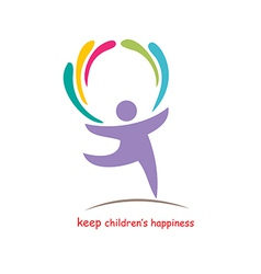 Keep childrens happiness vector