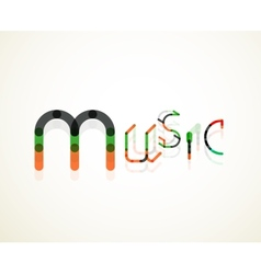 Music font word concept vector
