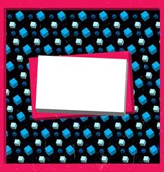 Grungy cubes frame vector