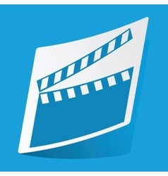 Movie sticker vector