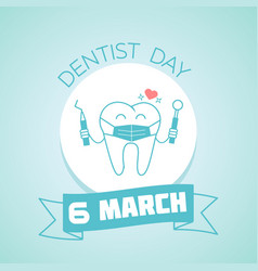 6 march dentist day vector