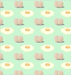 Pattern of fried eggs vector