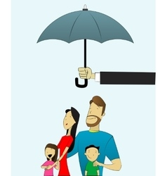 Happy and loving family with children under vector image