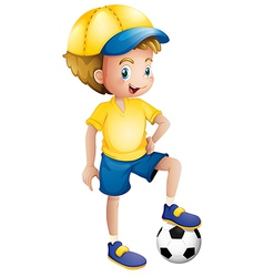 A young football player vector image vector image