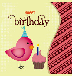 Birthday design over beige background vector