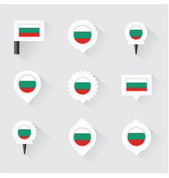 Bulgaria flag and pins for infographic and map vector