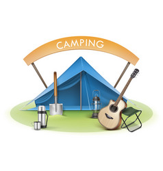 camping zone vector image