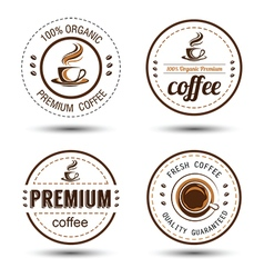 Coffee label 2 vector