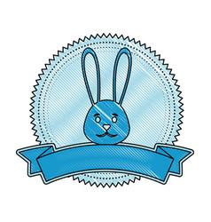 Cute easter bunny cartoon vector