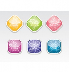 cute glossy buttons vector image