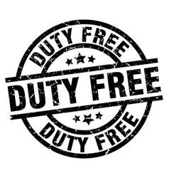 Duty free round grunge black stamp vector