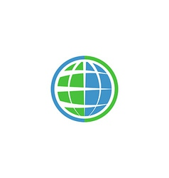 Ecology globe logo green technology graphic sing vector image vector image