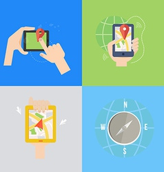 Element of GPS navigation concept icon in flat vector image vector image