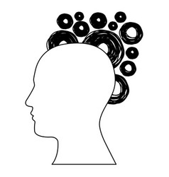 figure human with bubbles icon vector image