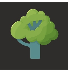 Flat icon of a tree in summer vector