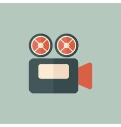 Flat movie icon vector