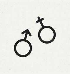 gender icon vector image vector image