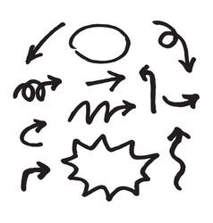 hand draw arrow vector image vector image