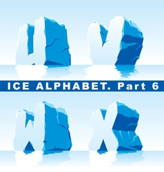 ice alpfabet Part 6 vector image vector image