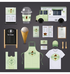 Ice Cream Corporate Design Set vector image vector image