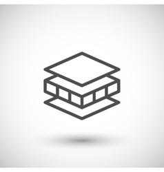 Insulation line icon vector