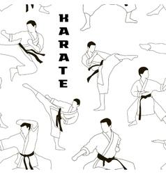 Karate set pattern vector