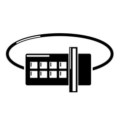 lock code icon simple black style vector image