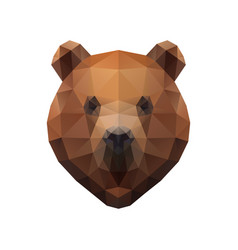 Low poly bear vector