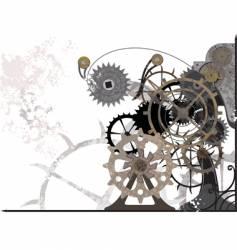 mechanism grunge vector image vector image