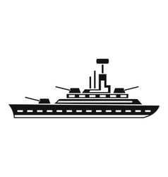 Military warship icon simple style vector image vector image