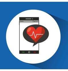 Phone online health cardio heart vector