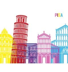 Pisa skyline pop vector
