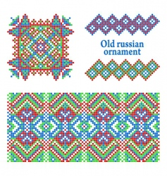 russian pattern vector image vector image