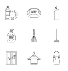 Sanitary day icons set outline style vector