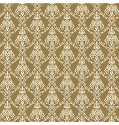 Seamless Damask Wallpaper 4 Beige Color vector image vector image