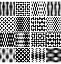 seamless geometric textures vector image