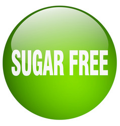 Sugar free green round gel isolated push button vector