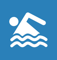 Swimming icon on blue background vector