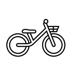 Thin line bike icon vector