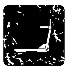 Treadmill icon grunge style vector