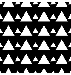 Triangle white seamless pattern vector image