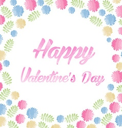 Watercolor happy valentines day lettering vector