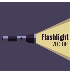 Flashlight icon on night background isolated vector