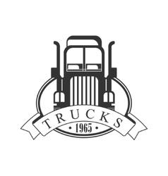 Heavy trucks company club logo black and white vector