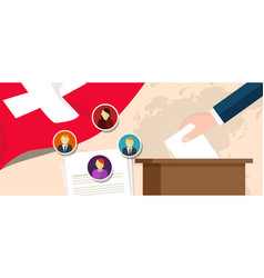 Switzerland swiss democracy political process vector