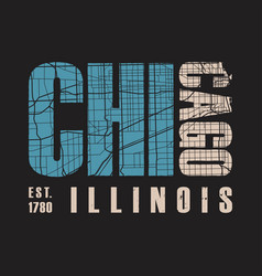 Chicago illinois t shirt print vector