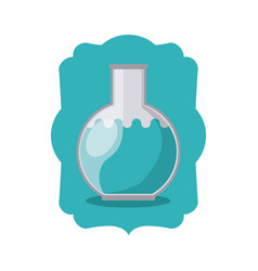 Isolated flask of school design vector
