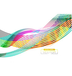 Abstract transparent colors lines scene vector