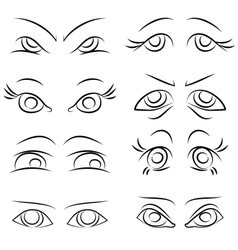 Emotions set of pairs of eyes vector